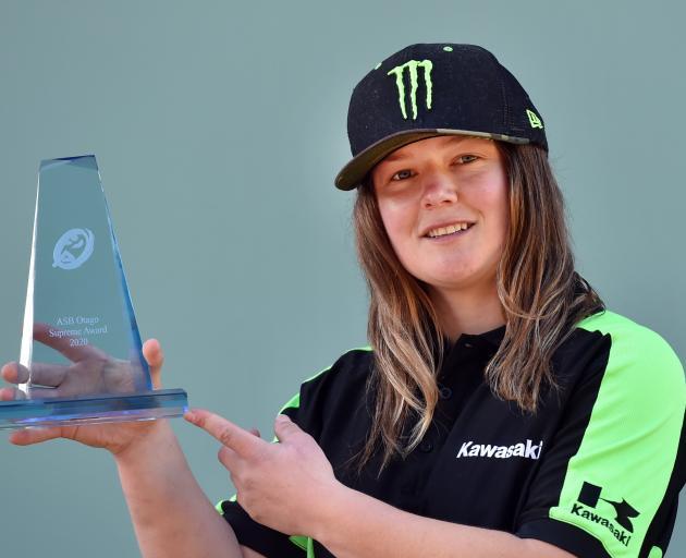 Courtney Duncan won Otago Sports awards supreme award earlier in June. PHOTO: PETER MCINTOSH