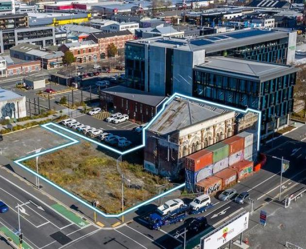 Aerial view of the Odeon Theatre in Christchurch. Photo: Supplied