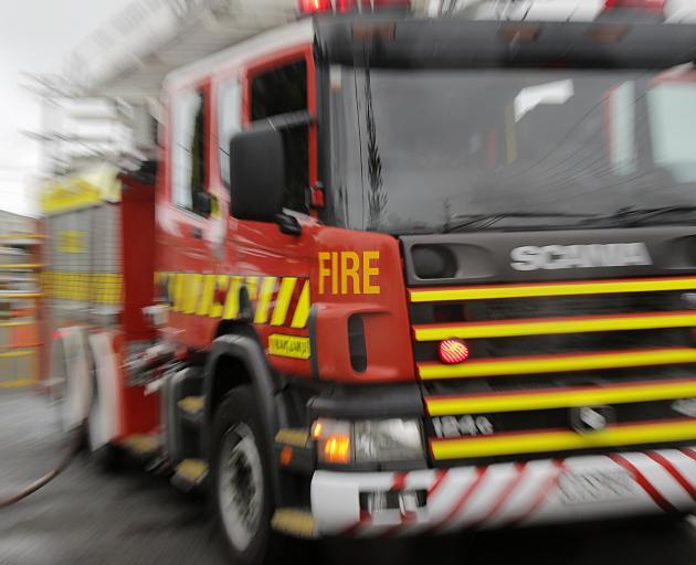 Firefighters are battling a blaze in Bluff. Photo: NZ Herald