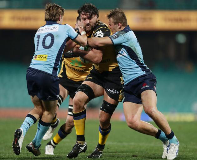 Jeremy Thrush of the Western Force in action during the round 2 Super Rugby AU match between the Waratahs and the Western Force at Sydney Cricket Ground. Photo: Getty Images