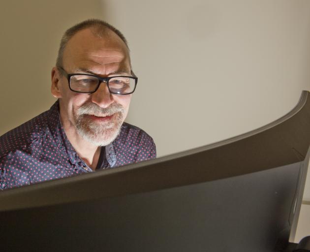 New Code establishment director Tim Ponting sets up his new office at Petridish. PHOTO: GERARD O...