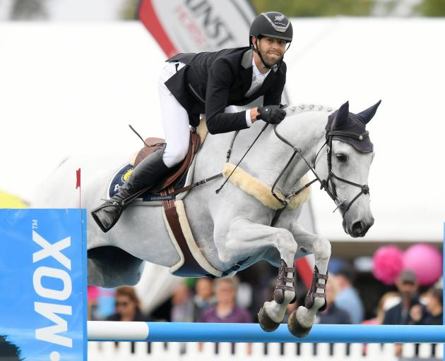Clarke Johnstone rides Balmoral Sensation at the Horse of the Year event at the Hawke's Bay A&P...