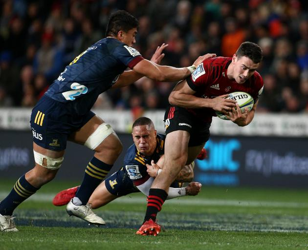 Crusaders winger Will Jordan continued his impressive form with two tries. Photo: Getty Images