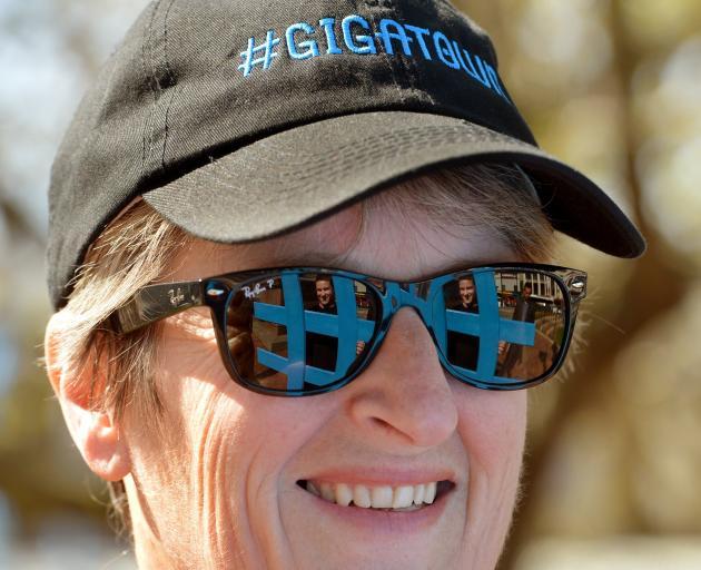 Sue Bidrose champions the Gigatown cause in 2014. PHOTO: STEPHEN JAQUIERY