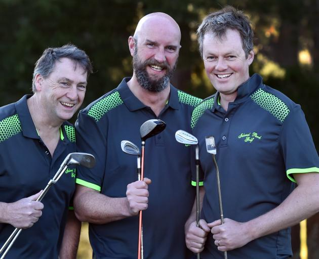 Island Park team members (from left) Campbell McPhee, Phil Moore and Michael Minty were still in...