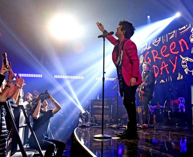 Billie Joe Armstrong of Green Day performs onstage in California earlier this year. Photo: Getty...