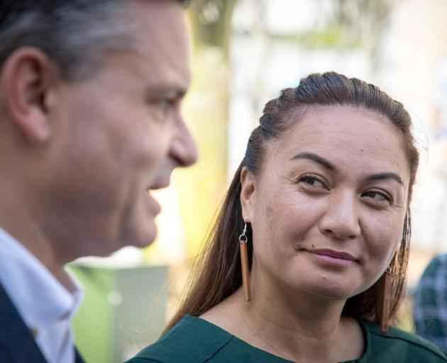 Green Party co-leaders James Shaw (left) and Marama Davidson have launched their party manifesto. Photo: NZ Herald