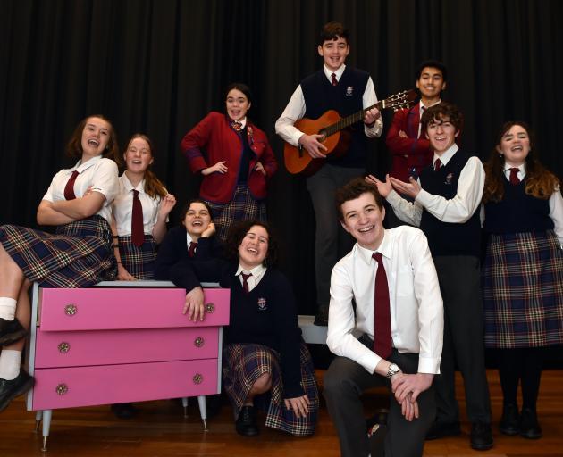 Kavanagh College pupils (clockwise, from left) Amalie Latton, Jemma Mortimer, Emily Kerr-Bell,...