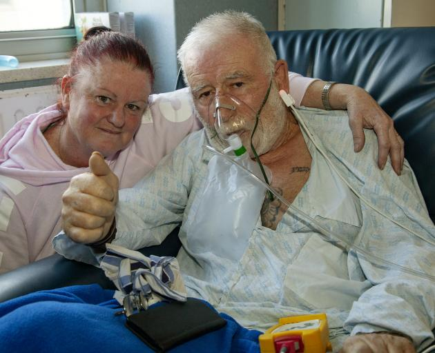 Rose Williams and Darryl Hawker, photographed on Tuesday when he still had hope he could fight...