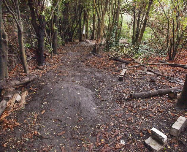Makeshift mountain bike obstacles at Plynlimon Park constructed by local children inspired the...