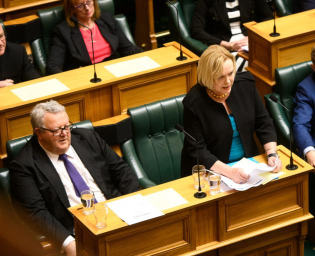 Judith Collins speaks in Parliament today. Photo: Getty Images