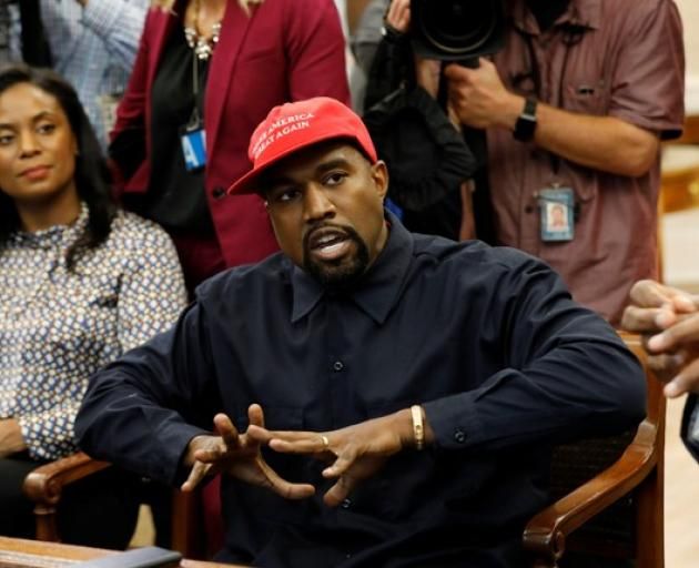 Kanye spoke of several things with the President including alternative universes, a new plane that Trump should consider as his next Air Force One. Photo: Reuters