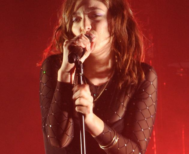 Lorde launches her home tour in Dunedin Town Hall last night. Photo: Christine O'Connor