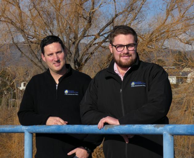 It is the job of emergency management officers Matt Alley (left) and Oliver Varley to expect the...