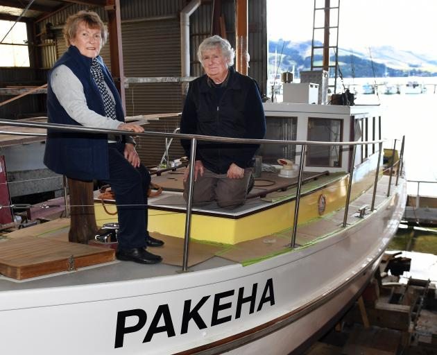 Nancy and Beaven Burrows on Pakeha, which is one week away from being ready for use. Photo:...