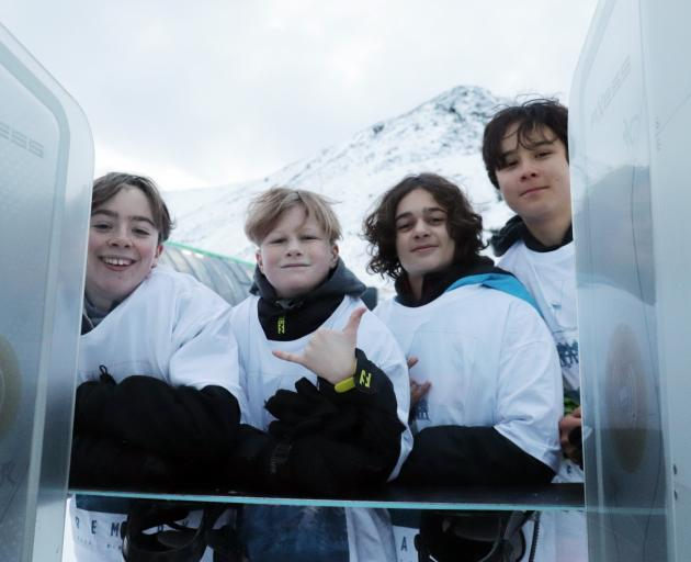 Wakatipu High School year 9 pupils (from left) Jano Le Page, Mace Korani, Flyn Cashmereid and...