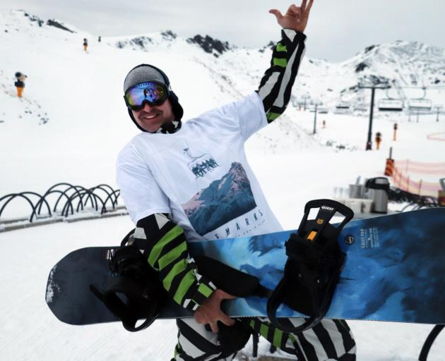 Tim Blackwood travelled from Dunedin to make the start of the Remarkables' chair lifts on opening...