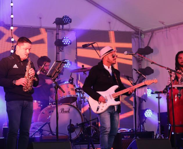 Local band Turtle Funk jammed into the early evening.