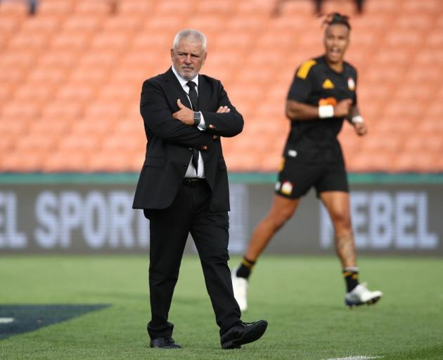 Warren Gatland walks on the field before the Chiefs slow start against the Brumbies on Saturday...