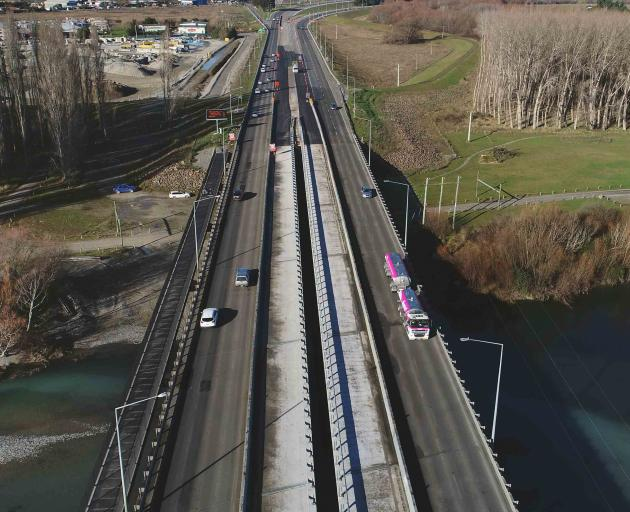 """Motorists are warned to expect """"significant delays"""" when crossing the Waimakariri Bridge. Photo:..."""