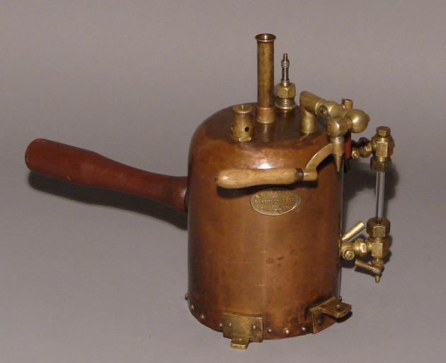 Inhalation sprayer manufactured by Dunedin engineering firm A. & T. Burt Ltd.