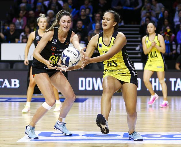 Aliyah Dunn (right) will return to Invercargill with the Central Pulse this weekend. Photo: Getty...