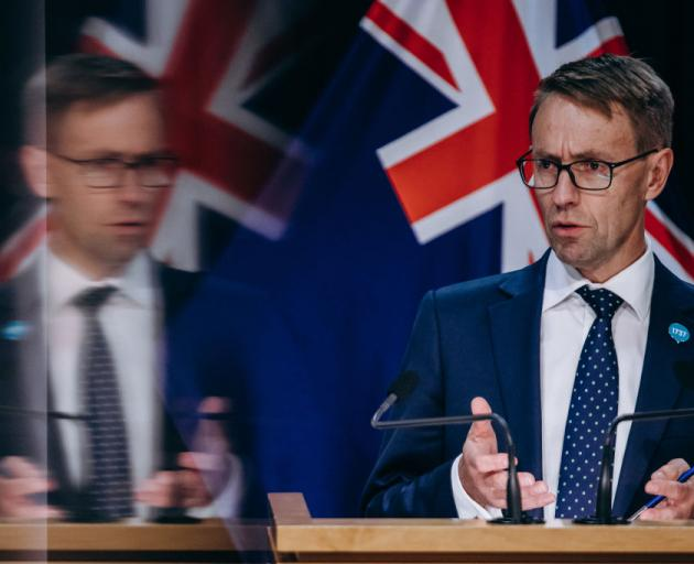 Dr Ashley Bloomfield speaks at a Covid-19 press conference at Parliament. Photo: Getty Images