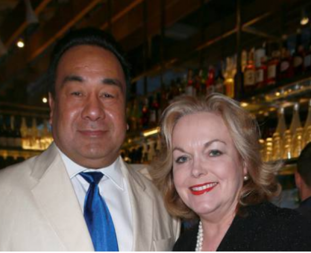 National leader Judith Collins with David Wong-Tung. Photo: NZ Herald