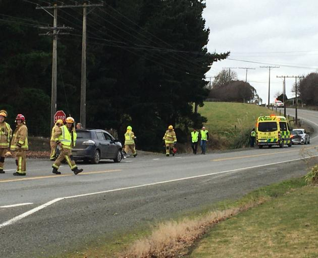 A police spokeswoman said they were called to the scene, near the intersection of Cherry Lane, at...