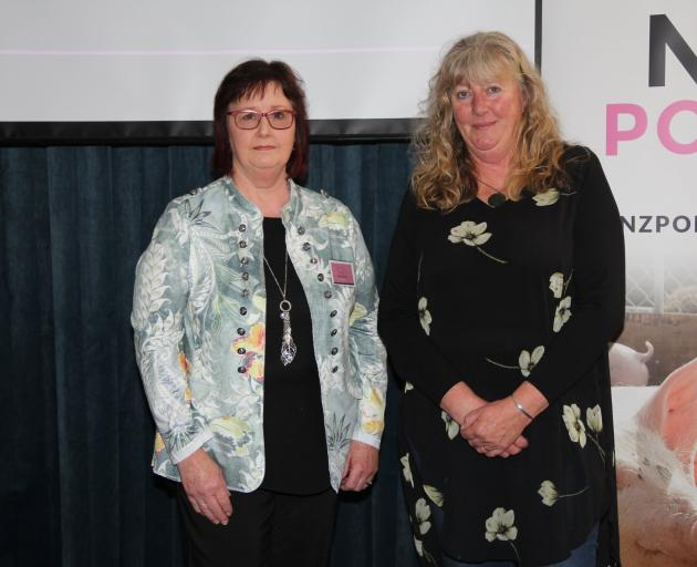 Patoa Farms worker Jane Stanley (right) received the trainee of the year award from New Zealand...
