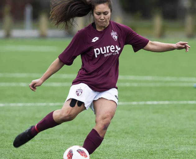 In the Women's Premier League, Mosgiel AFC are back at Memorial 1 hosting top of the table Dunedin Technical AFC (pictured). Photo: Adam Binns