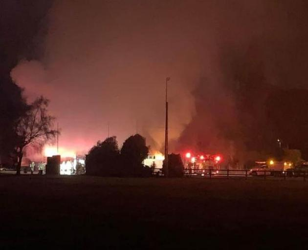 Firefighters were called to the Mossburn Diner last night.Photo: Facebook / Mossburn Volunteer...