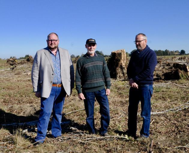 Waimakariri District Mayor Dan Gordon, left, with Keith Harris, of Rangiora, and ECan councillor...