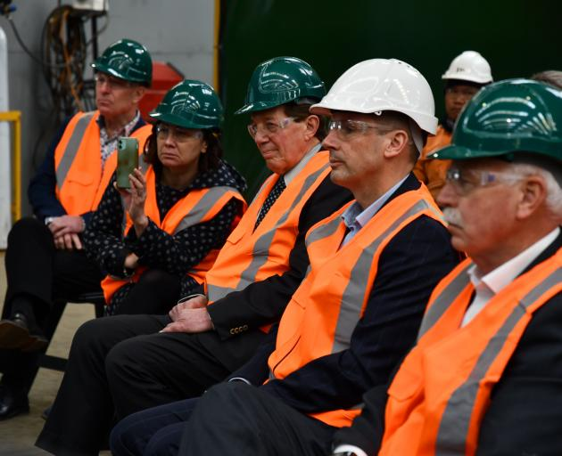 National Party leader Judith Collins spoke to Southland leaders including Great South chief...