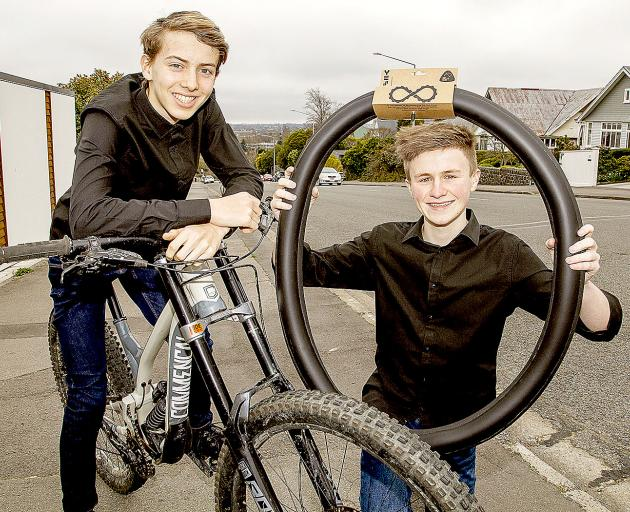 Cashmere young enterprise students Zak Shearer (left) and Josh Baker. Photo: Geoff Sloan