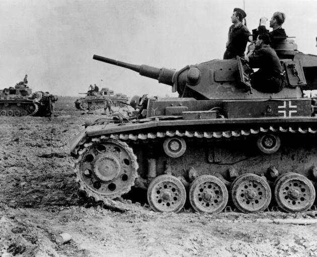 Willi Huber served in the tank division of the German Waffen SS during World War 2. Photo: Getty...