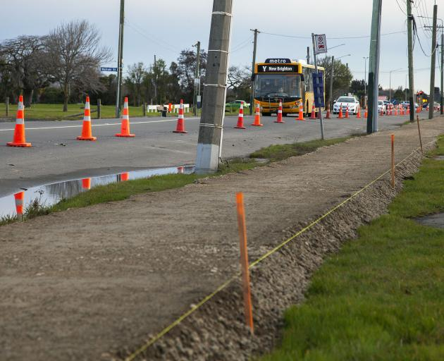 A footpath that previously flooded when it rained on Pages Rd has been raised by city council...