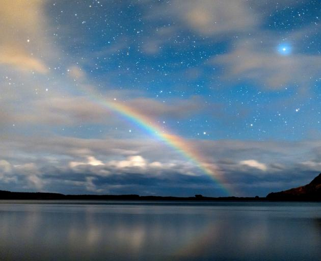 A moonbow above Hoopers Inlet on July 25. PHOTO: IAN GRIFFIN