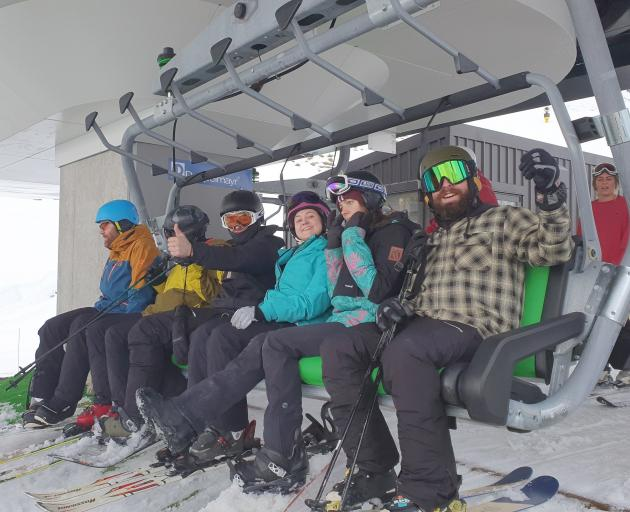 There were smiles and some nervous looks on the opening day of the new Sugar Bowl chairlift at...