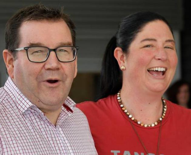 Willow-Jean Prime (right), with Grant Robertson, is the Labour candidate for Northland. Photo: NZ...