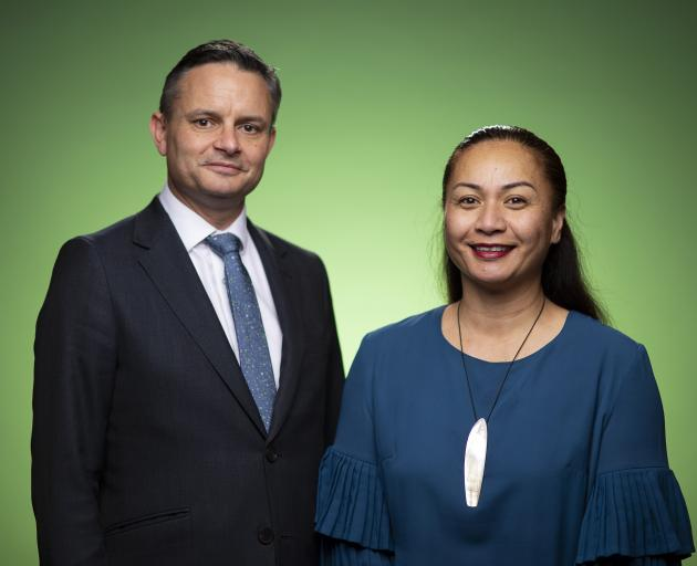Green Party co-leaders James Shaw and Marama Davidson. PHOTO: GETTY IMAGES