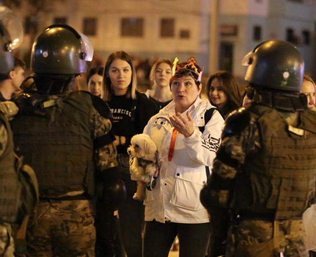 There have been mass demonstrations for months against Alexander Lukashenko who has been in power...