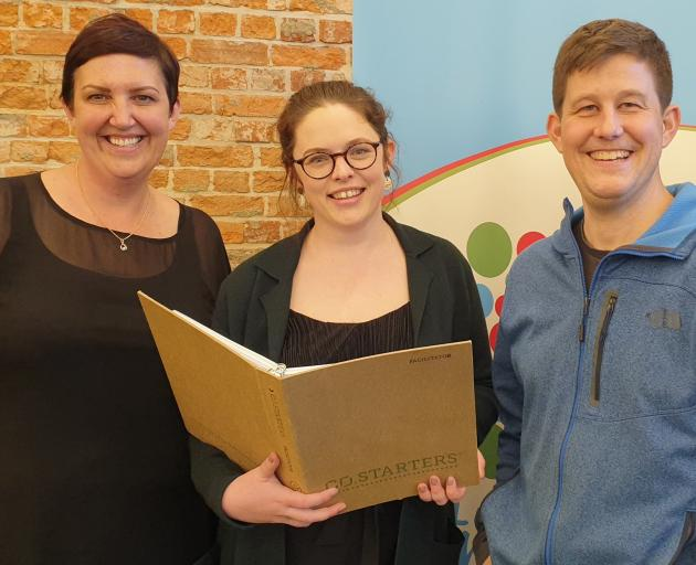 Polson Higgs business development manager Donna Hall, Startup Dunedin general manager Rachel...