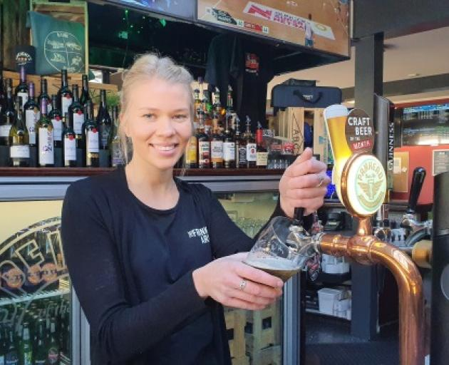 Essi Lehtonen's pulling pints once more at Frankton Arm Tavern following two major operations