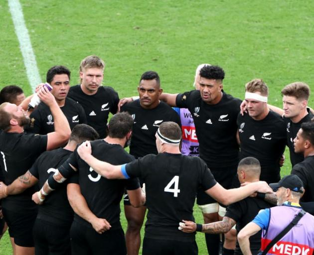 The All Blacks are keeping watch on an oncoming typhoon. Photo: Getty Images