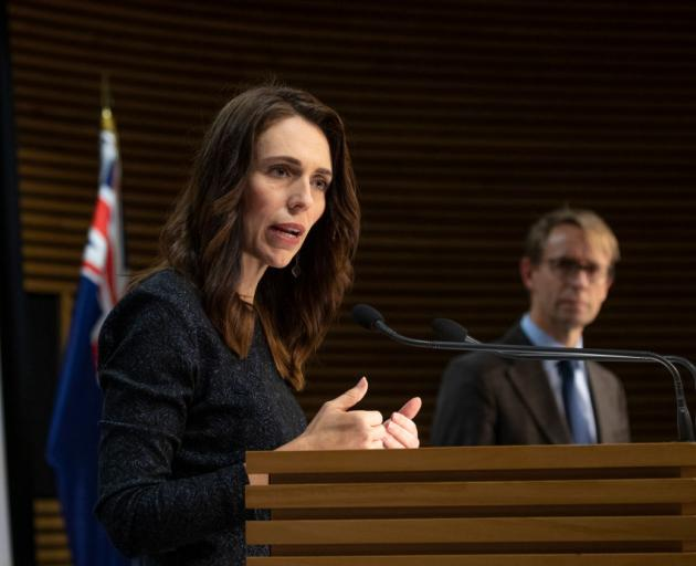 Prime Minister Jacinda Ardern and Ashley Bloomfield are providing today's update. Photo: Getty...