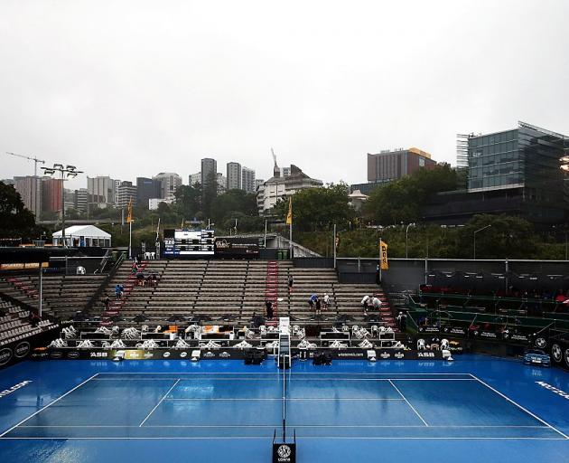 Play was rained out last evening at the ASB Classic. Photo: Getty Images