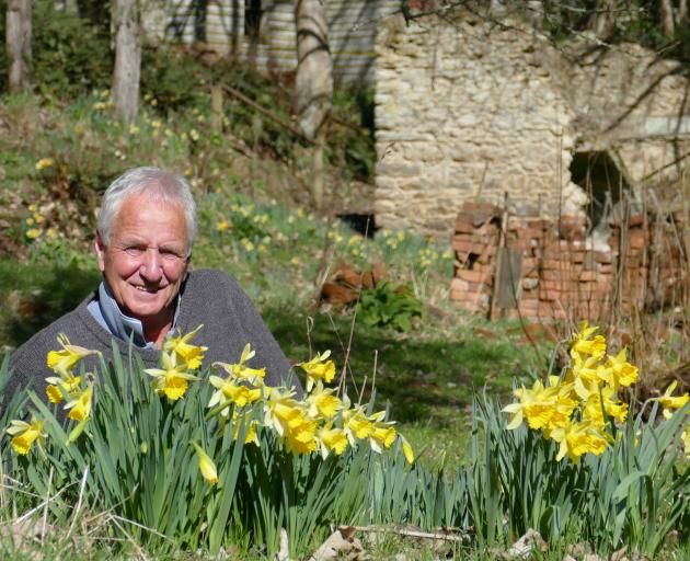 Weatherstons Brewery owner and Daffodils Trust spokesman Ben Hart enjoys some early spring blooms...