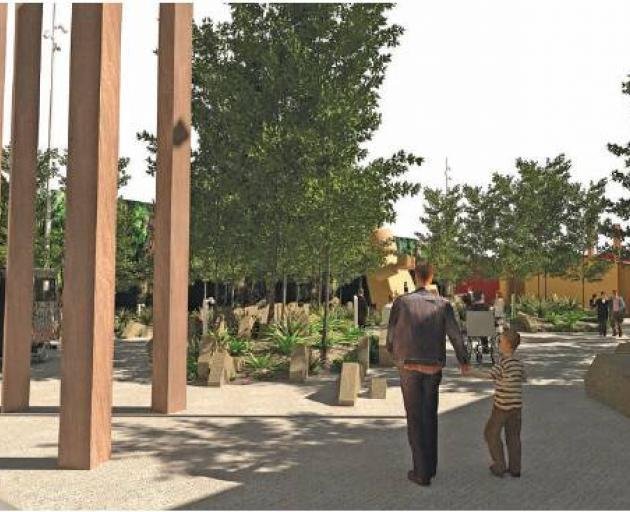 Concept render option for Clutha District Council's new ''destination toilets'' in Balclutha: The Hunt for the Wild Things (pictured). Image: ROUGH & MILNE LANDSCAPE ARCHITECTS/SUPPLIED