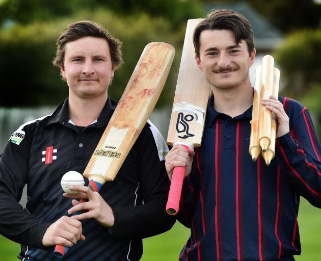 Jeremy Smith (left), of Kaikorai, and Kurt Johnston, of Carisbrook Dunedin, are looking forward...